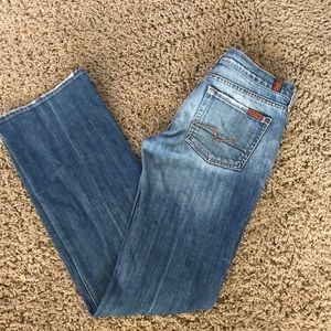 7 for All Mankind Jeans Distressed Sz 28